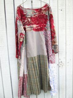 upcycled Dress / romantic Upcycled clothing / от CreoleSha на Etsy
