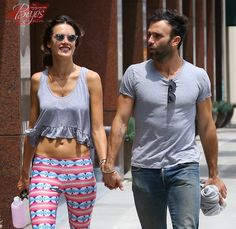 Alessandra Ambrosio and fiance Jamie Mazur hit up a pilates class in Brentwood, California on August 2, 2014
