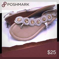 Fibi & Clo sandals Fibi & Clo gold cascade wedge Fibi & Clo Shoes Wedges