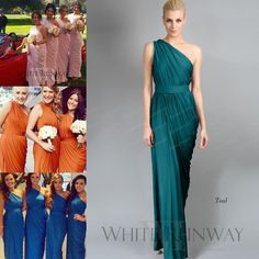 2015 Teal Chiffon One Shoulder Bridesmaid Dresses Custom Made Pink/Orange/Blue Maid Of Honor Dress Cheap New Arrival Wedding Party Gown Lh06 Grey Bridesmaid Dresses Uk Jim Hjelm Bridesmaid Dresses From Reliaevents, $78.39| Dhgate.Com