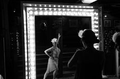1920s Party Theme | Art Deco Party Props | Roaring Twenties Party Ideas: Illuminated Bulb Entranceway