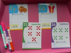 great ideas for letter recognition / alphabet book