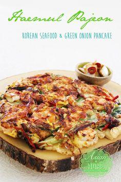 Haemul Pajeon : Korean Seafood & Green Onion Pancake - Asian at Home