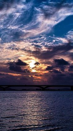 Dramatic Clouds Sunset Over Bridge iPhone 6 Wallpaper Nature Iphone Wallpaper, Sunset Wallpaper, Wallpaper Backgrounds, Wallpaper Ideas, Artistic Wallpaper, Cloud Wallpaper, Hd Wallpaper Iphone, Full Hd Wallpaper, Mobile Wallpaper