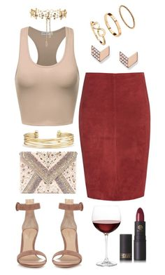 """""""Night Out"""" by biancamarie17 on Polyvore featuring Jitrois, Erickson Beamon, Gianvito Rossi, LULUS, Stella & Dot, H&M, FOSSIL, Nordstrom and Lipstick Queen"""