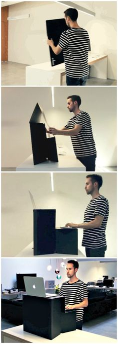Oristand is the portable, fold-flat cardboard standing desk that's good for your back, your wallet and our planet.
