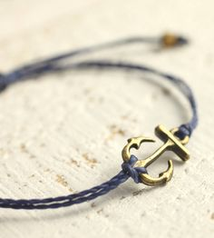Bronze Anchor Cord Bracelet