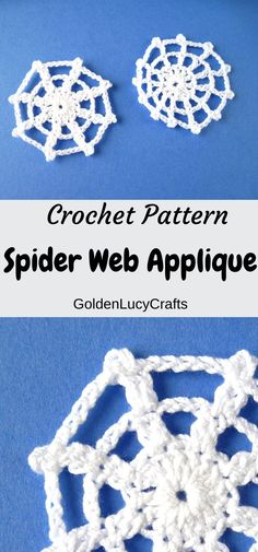 Learn how to make this crochet spider web applique, Halloween decor! Crochet Halloween decorations idea, free crochet pattern,  DIY, #halloween, #crochetapplique, #halloweendecrations  #crochetpattern Halloween Crochet Patterns, Easy Crochet Patterns, Crochet Motif, Crochet Flowers, Free Crochet, Crochet Appliques, Thanksgiving Crochet, Easy Crochet Projects, Diy Halloween Decorations