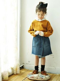 72a873c5e56 Spring Look For Kids   Momo Ann released its Fall 2017 collection today.  The beautiful basics of this K… Basic WearKorean ...