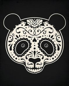 Day of the Dead Panda by enkel dika