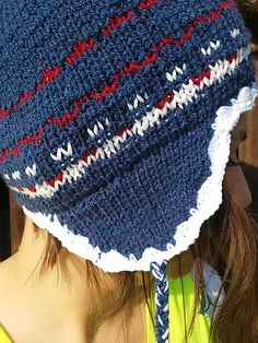 Close up knitted hat