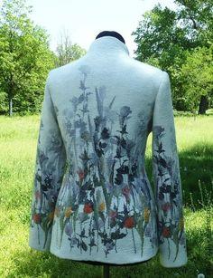 Пиджаки, жакеты ручной работы. Ярмарка Мастеров - ручная работа Жакет Ливадия-войлок. Handmade.