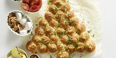 Boodschappen - Kerstboombrood met kaas en kruidenboter