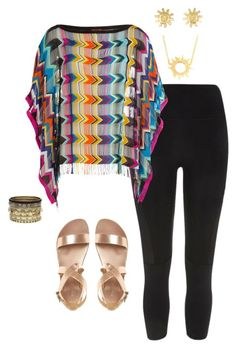 """""""Fringe and leggings"""" by tori-holbrook-th ❤ liked on Polyvore featuring River Island, Missoni Mare, Annabelle Lucilla Jewellery and Daytrip"""