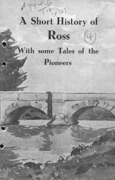 A Short History of Ross - Wtih some tales of the Pioneers by K R vonStieglitz. Click on the image to download a digital copy.  Hard copies can be purchased for $15 (excluding postage) from the Tasmanian Wool Centre (03) 6381 5466.