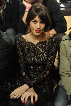 Alexa Chung wears the 'Christina Lace Dress'.