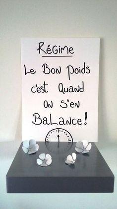 """affiche citation """" Régime , le bon poids c'est quand on s'en balance """" : Affiches, illustrations, posters par stefebricole"""