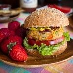 Spicy BBQ Chickpea Burgers & Lightened-Up Crispy Baked Fries