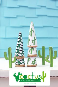 Cactus Ice Cream Party Wrapper Printables Cactus Party Printables from Kiki and Company are perfect for celebrating summer. Print some off for your party today! Use it for ice cream or party snacks! Ice Cream Party, First Birthday Parties, Birthday Party Themes, Kid Parties, Deco Cactus, Mini Party, Mexican Party, Fiesta Party, Childrens Party