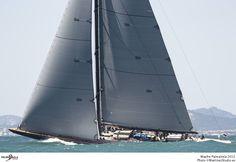 J-Class LIONHEART sailing Palma Mallorca's PalmaVela sailing regatta.