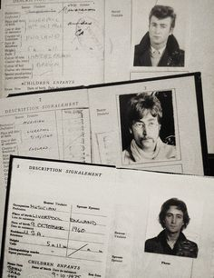 sirpeter64: The three passports of John Lennon.