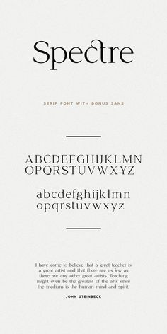 Spectre Font Duo Sans & Serif by Jen Wagner Co on Creative Market - Modern Web Design, Font Design, Design Typography, Vintage Typography, Typography Letters, Typography Poster, Vintage Logos, Type Design, Graphics Vintage
