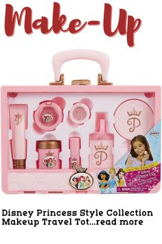 Sleek, unique, and oh so fun, the Disney Princess Style Collection, is meant for every modern girl with big goals and great style. The Style Collection Travel Tote is the ultimate, on the go tote for every girl on a schedule. Includes stylish and unique reusable tote. Comes complete with selection of beauty products and plenty of storage! Makeup Tote 12 piece set includes: tote, luggage tag wi... Princess Style, Disney Princess, Travel Tote, Travel Makeup, Every Girl, Collection, Travel Bags, Holiday Makeup, Disney Princesses