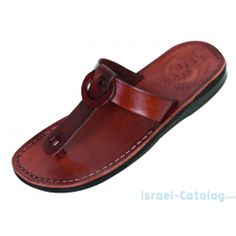 685a9bc642c5 Buy T-Strap Ring Biblical Leather Slip-on Sandals