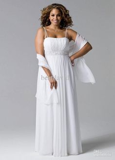 Cheap Wedding Dresses - Discount Strap Chiffon Hand Beaded Plus Size Wedding Dresses Online with $146.03/Piece | DHgate