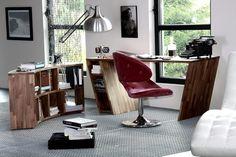 Domowe biuro, domowy gabinet, meble do biura, home office. Zobacz więcej na: https://www.homify.pl/katalogi-inspiracji/29034/jak-urzadzic-biuro-do-pracy-zdalnej-5-przykladow