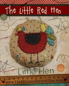 Líl' Hen Pincushion Pattern PDF by TheLittleRedHenIowa on Etsy, $3.50 Make this for Ann F