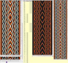 30 tarjetas, 4 / 2 colores, alterna movimientos hacia adelante y hacia atrás // sed_363 diseñado en GTT༺❁