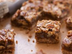 The hint of rum in this recipe gives it a little kick . . . so yummy! Pecan Bars from CookingChannelTV.com