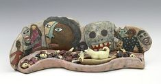 A Float Down the Alimentary Canal (maquette) My Images, Cowboy Hats, Skull, Pottery, Clay, Sculpture, Ceramics, Artwork, Animals