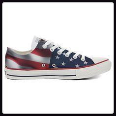 679074d9c96fb9 Converse All Star personalisierte Schuhe (Handwerk Produkt) US-Flagge -  TG39 - Sneakers