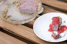 Raw Strawberry Cheesecake - sub honey for agave.