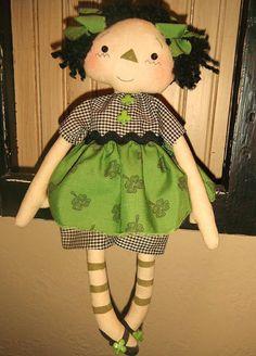 Primitive Kaitlyn Ann Raggedy Doll instant por PrindleMountainPrims