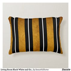 White And Gold Pillows, Black Throw Pillows, Black And White Fabric, Black White Gold, Grey Cushions, Black And White Design, Soft Pillows, Living Room Decor Colors, Living Room Designs