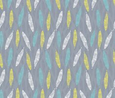 Feathers upon feathers fabric by madex on Spoonflower - custom fabric