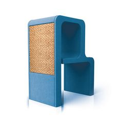 Letter R Cat Scratcher Blue, 619€, now featured on Fab.