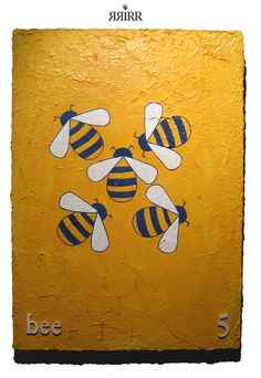 PANAL DE ABEJAS   pintura en gouache sobre bastidor de papel reciclado   50x70   RRiRR  Ricardo Gil Turrion