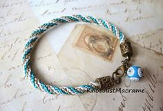 Twisted Micro Macrame bracelet from Knot Just Macrame.
