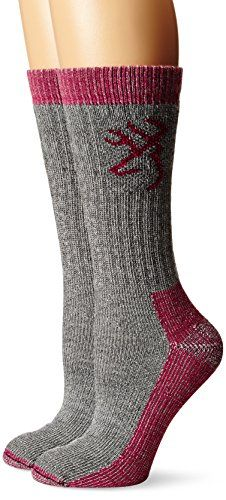 Browning Hosiery Womens Heavyweight Wool Socks Pack 2 Pair Grey Large *** Be sure to check out this awesome product affiliate link Amazon.com