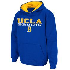 UCLA Bruins Stadium Athletic Youth Stack II Hoodie - Blue