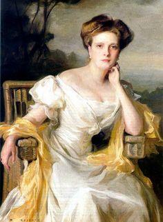 Philip Alexius de László, MVO (1869-1937) — Princess Andrew of Greece (Princess Alice of Battenberg) Mother of Prince Philip, sister of Queen Louise of Sweeden and of Earl Mountbatten of Burma, 1907   (616×842)