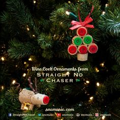 Straight No Chaser Wine Cork Ornaments!  Repin on http://www.sncmusic.com/adventcalendar for your chance to win Straight No Chaser merchandise throughout the holiday season! Have you bought gifts for everyone on your list yet? Get 5 copies of Holiday Spirits and get a free Straight No Chaser mug: http://atlr.ec/1f48GMw