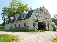 Custom horse barn with powdercoated slider doors #0