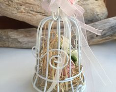 Wedding favor birdcage personalised gift wire by StudioLena