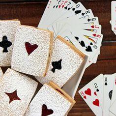 Poker Night Linzer Cookies