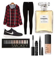 """""""Untitled #8"""" by kartseva-ana on Polyvore featuring 7 For All Mankind, NIKE, Chanel, Forever 21, NARS Cosmetics and Marc Jacobs"""